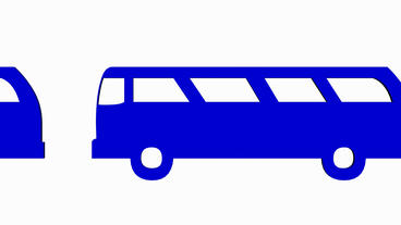 Moving of 3D Van bus.car,transportation,bus,vehicle,coach,transport,passenger,pu Animation