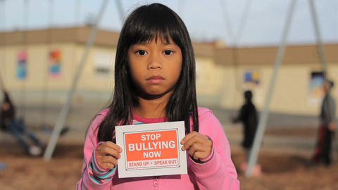 Speak Out Against Bullying Stock Video Footage
