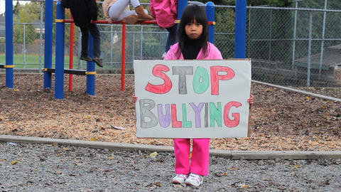 Stop Bullying Message Stock Video Footage