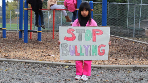 Stop Bullying Message Footage