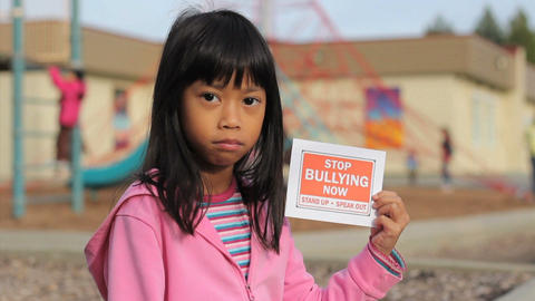 Stop Bullying Now Message Footage