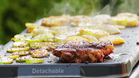Meat on the grill Stock Video Footage