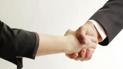 Business people shaking hands Stock Video Footage