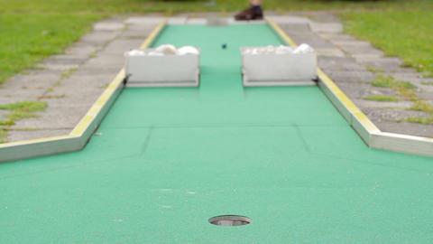 Mini golf Stock Video Footage