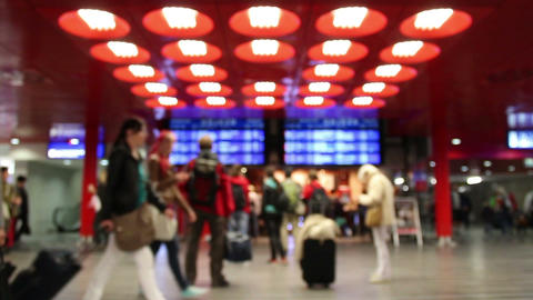 Train station Lobby in Prague Stock Video Footage