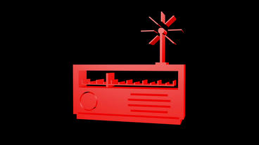 Rotation Of 3D Radio.stock,photography,photos,agency,digital,old,music stock footage