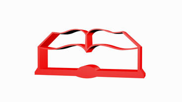 Rotation of 3D book.cover,literature,paper,education,reading,document,library,ph Animation