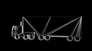 Rotation of 3D truck.automobile,shipping,transportation,freight,cargo,vehicle,hi Animation