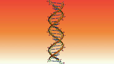 Rotation Of 3D DNA.medicine,biology,science,research,medical,helix,biotechnology,molecule,molecular stock footage