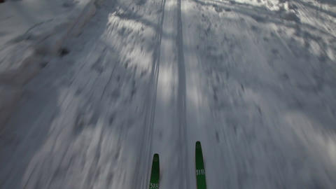 Skiing Stock Video Footage