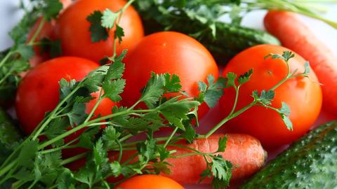 Fresh vegetables Stock Video Footage