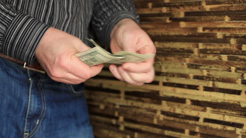 Businessman Counting Money Footage