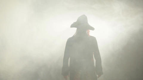 The pirate goes to the fog Stock Video Footage