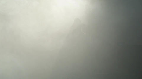 The pirate comes out from the fog Stock Video Footage