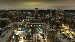 City timelapse at night. Moscow, aerial view. Wide shot,... Stock Video Footage