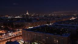 Night city time lapse Stock Video Footage