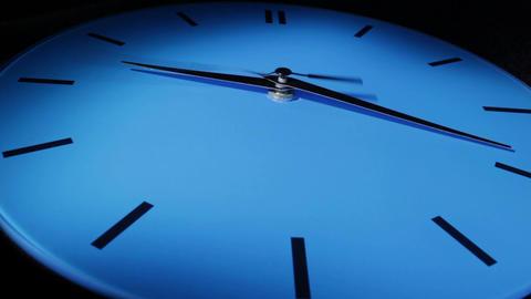 Blue clock. Time lapse Footage