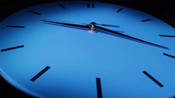 Blue clock. Time lapse Footage