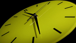Yellow clock. Time lapse Stock Video Footage