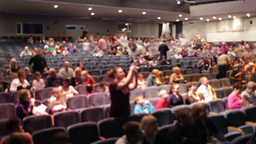 Audience fills the theatre.Time lapse Stock Video Footage