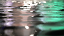 Colorful water surface with changing color. Beautiful... Stock Video Footage