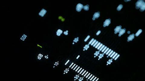 Macro shot of the professional video recorder equalizer Footage