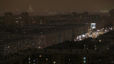 Night Moscow time lapse Footage