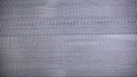 TV white noise with sound Stock Video Footage