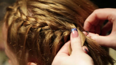 Barber makes the pigtail Stock Video Footage