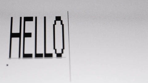 Typing Hello world. Macro shot Stock Video Footage