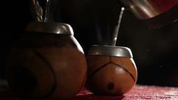 Yerba Mate. stock footage