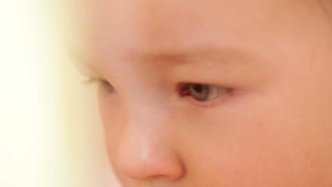 Closeup portrait of a boy Stock Video Footage