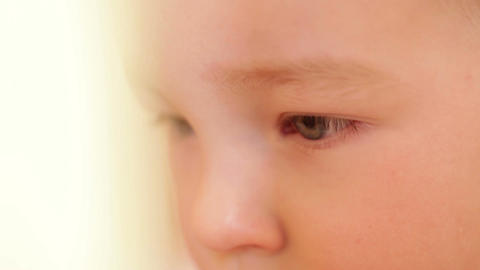 Closeup portrait of a boy Stock Video Footage