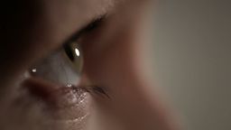 Woman eye. The profile view Stock Video Footage