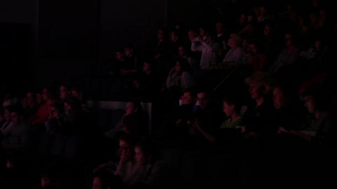People in theatre Stock Video Footage