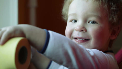Happy Kid's Smile. Close Up stock footage