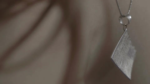 Jewelry white gold. Macro shot Stock Video Footage
