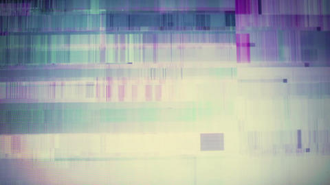 Abstract background - broken display. Vintage toned motion background Footage
