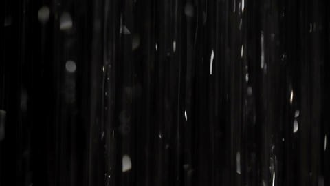 Rain on black. Clip 3 Footage