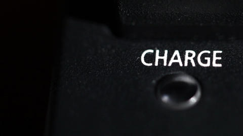 Charge blinking light. Macro shot Stock Video Footage