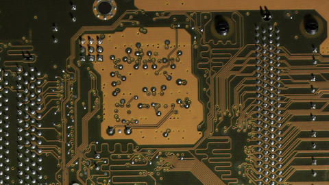 High technology background, computer circuit board. Pan... Stock Video Footage