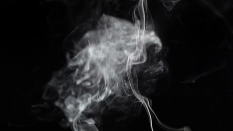 Smoke on a black background Stock Video Footage