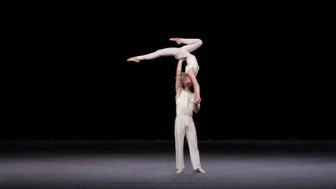 Circus artists perform different tricks Stock Video Footage