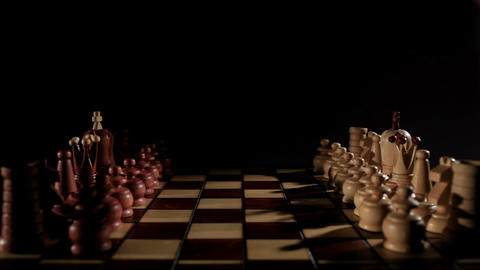 Chess game. Real time Stock Video Footage