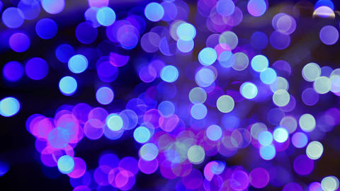 Blue bokeh motion abstract background Stock Video Footage