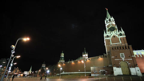 People walking in Red square in Moscow Footage
