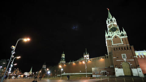 People walking in Red square in Moscow Stock Video Footage