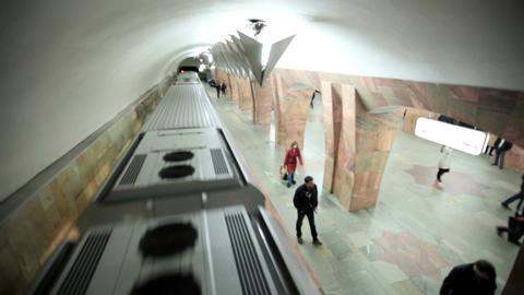 Train runaways at the Marksistskaya metro station Footage