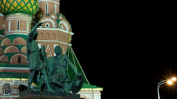 St. Basil (Cathedral of the Protection of the Virgin on... Stock Video Footage