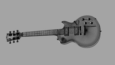 Rotation of 3D Electric Guitar.music,musical,instrument,string,rock,electric,art Animation